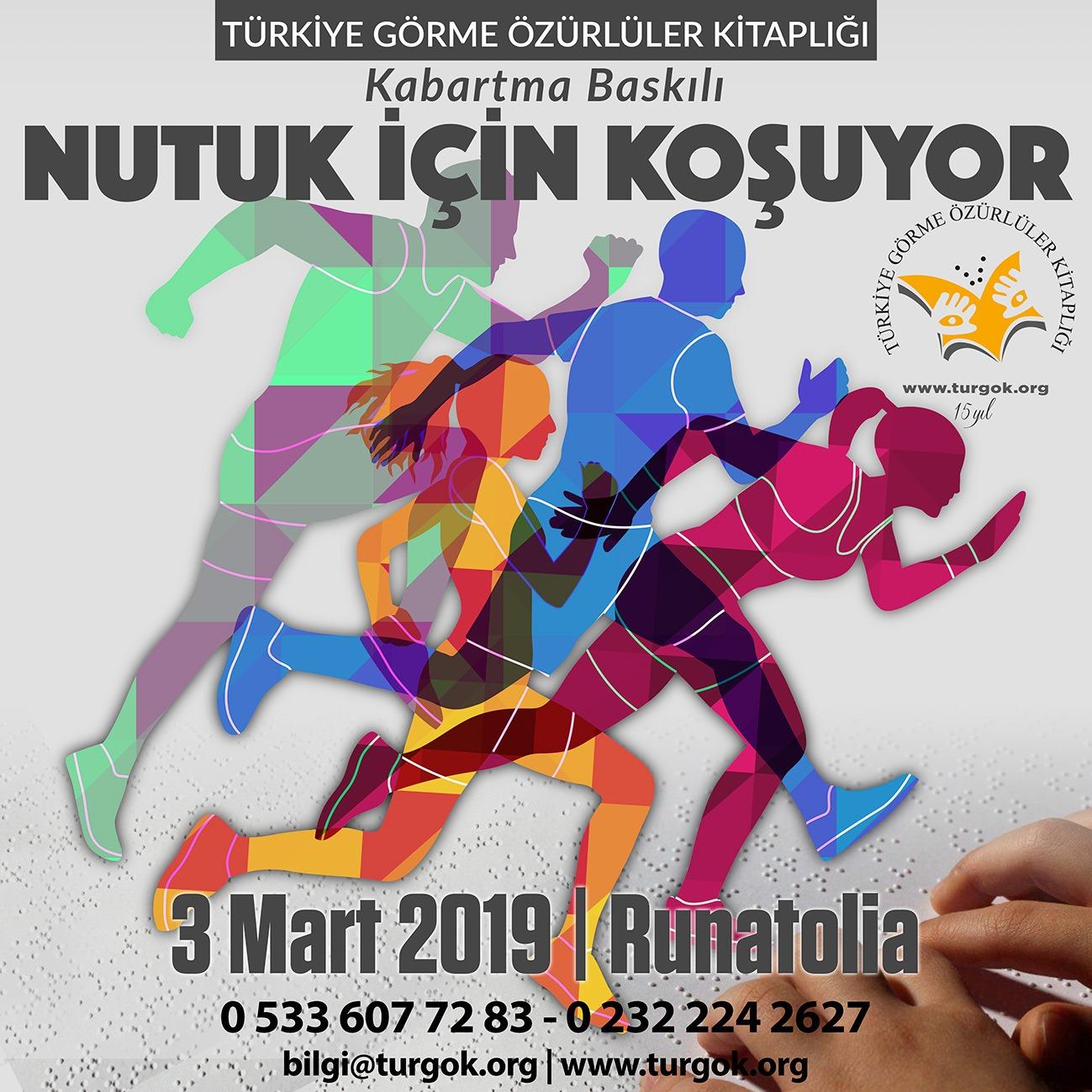 TÜRGÖK, Antalya'da Görmeyenlere Kabartma Baskılı NUTUK için koşuyor!. Ayrıntılar için Tıklayınız